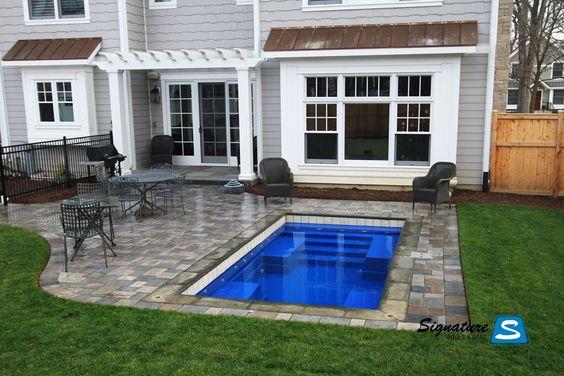 Fiberglass pool deck modular small swim spa pool - Small fiberglass pools ...