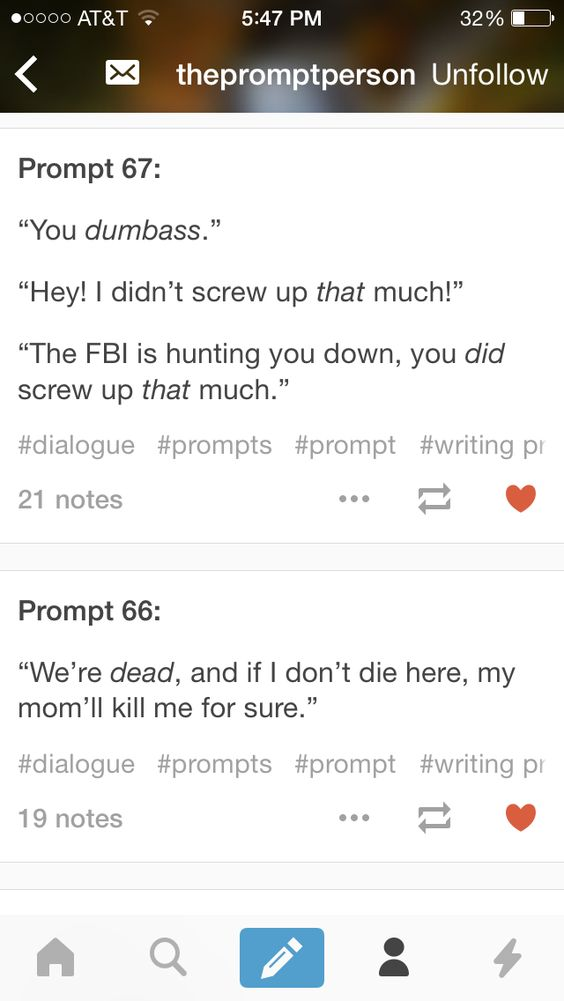 What happens if you combine these in a story?: