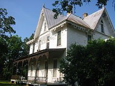 Fairhope Plantation is a historic Carpenter Gothic plantation house and historic district, located one mile east of Uniontown, Alabama, USA