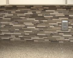kitchen backsplash lowes 12-in x 14-in java mosaic wall tile, item