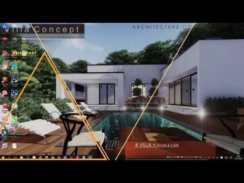 Cara Menggambar Villa 1 Lantai I Zwcad Sketchup 2018 In 2020 Villa Architecture Installation