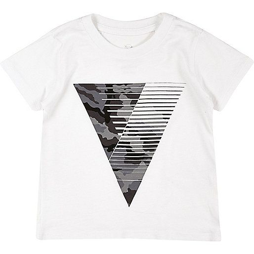 Weißes T-Shirt mit Dreieckprint