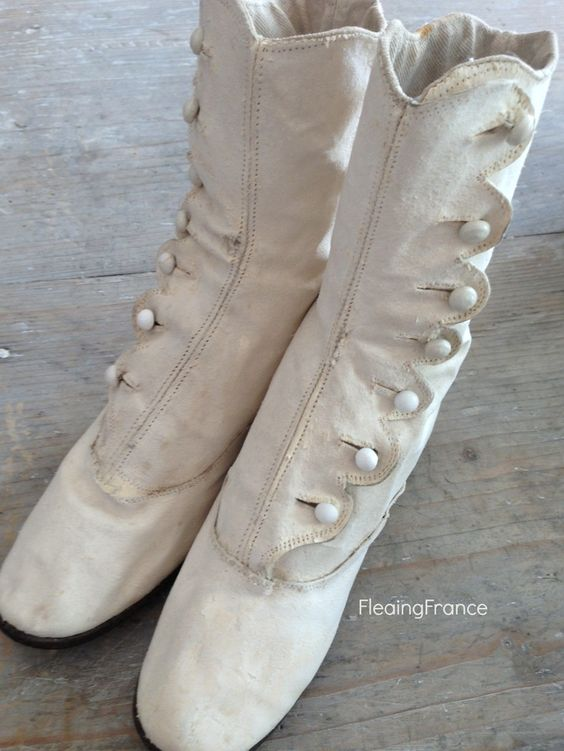 FleaingFrance....child's button boots from the 1800's