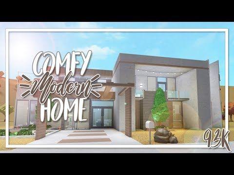 Welcome To Bloxburg 95k Comfy Modern Home Youtube Modern