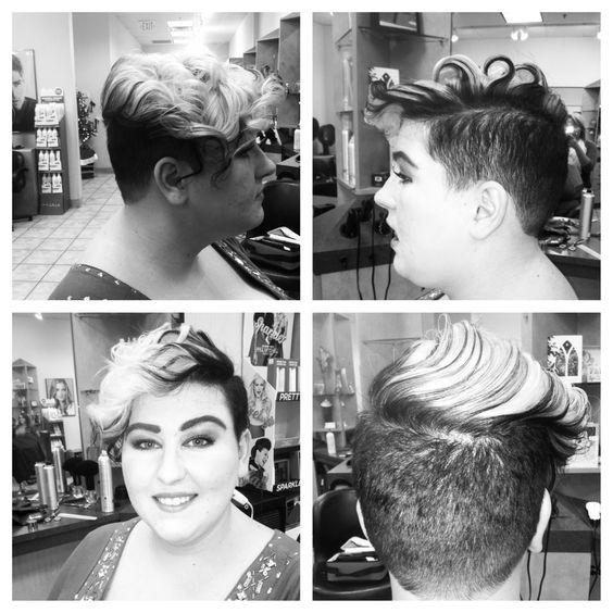 Mohawk, undercut, fade, womens short hair, curly hair | Hairtastic
