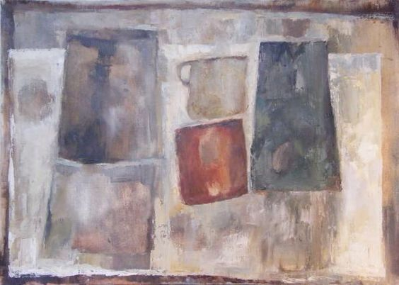 Artist: Harvey Rothschild Title: Still Life Objects composition 2 Medium: Oil on linen canvas Size: 700mm x 510mm
