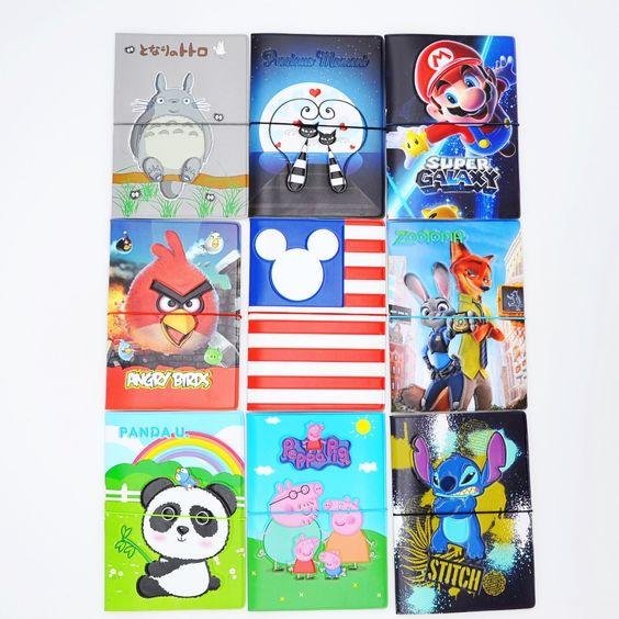 -2016 Patrones de dibujos animados Encantadora Pasaporte Cubierta de la Carpeta de Documentos de Identidad de Viaje, 17 tipos de Patrones para elegir