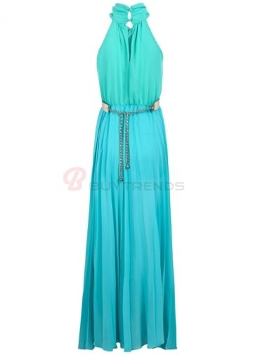 high neck long halter dress | Halter Neck High Waist Sleeveless Long Dress Women Summer Maxi Dress