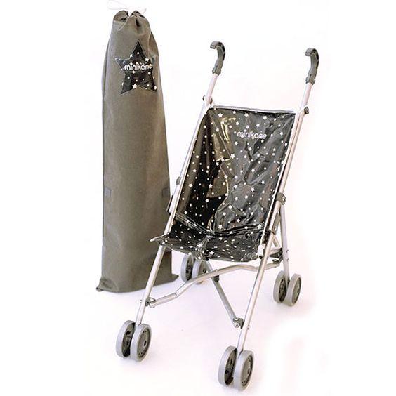 MINIKANE wózek dla lalek BLACK STARS Miss Puppet