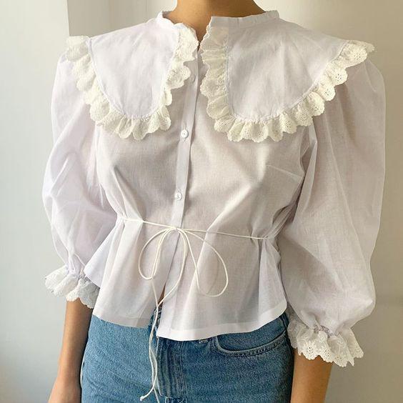 романтические блузки