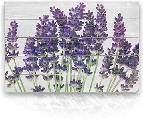 Rustic Purple Lavender Flowers On White Fir Shiplap Style Authentic Wood Plank 3d Wall Art Flower Wall Art Lavender Walls Planked Wall Art