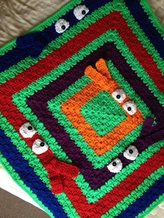 Colorful Pick A Boo Blanket Crochet Baby Blanket Custom