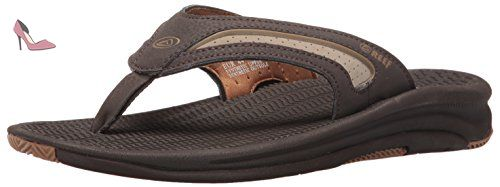 Leather Fanning, Flip-Flop Homme, Marron (White/Brown), 37-39 EUReef