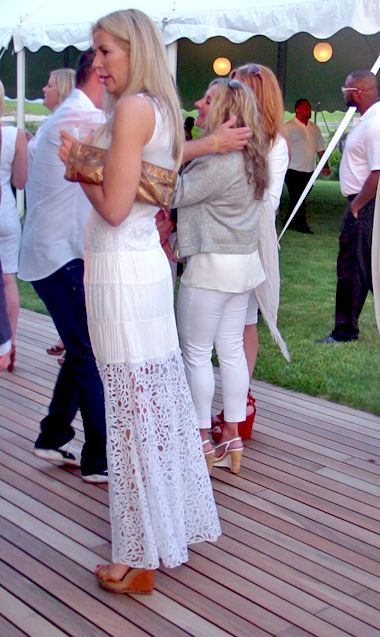 White Attire was requested at the Phoenix House 45th Anniversary bash in Southampton at the Loeb's!
