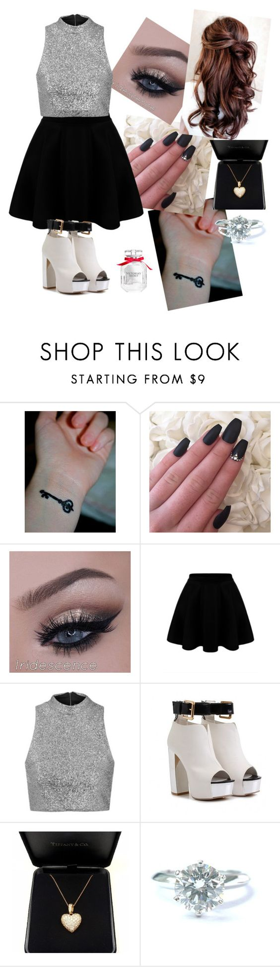 """Xmas Day"" by jenny-malik19 ❤ liked on Polyvore featuring Topshop, Tiffany & Co. and Victoria's Secret"