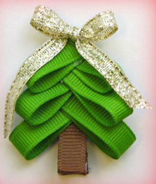You could also make with pine tree leaves and a twig