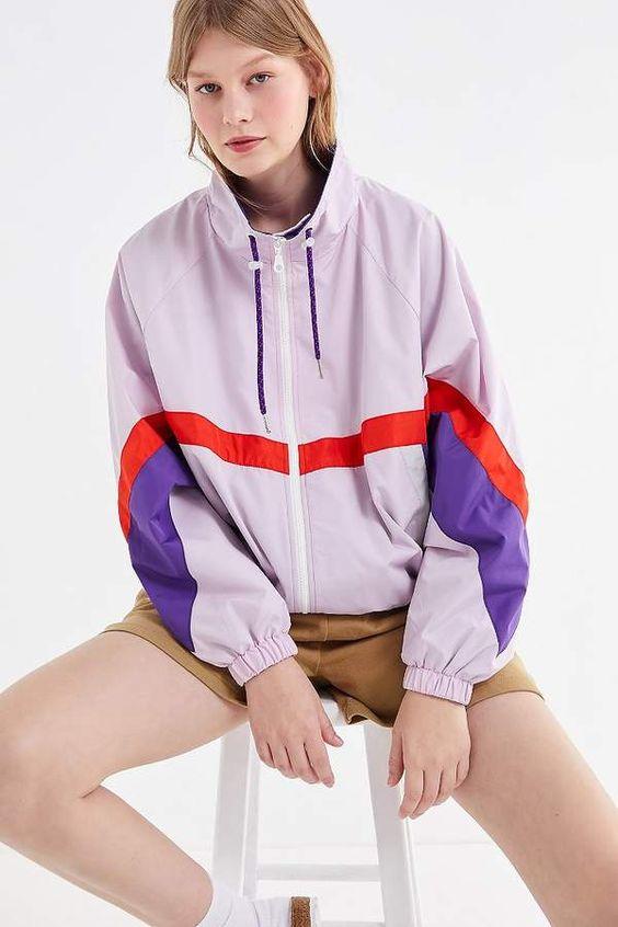 Urban Outfitters Destiny Colorblock Windbreaker Jacket