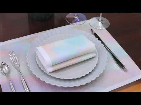 Disposable Table Mats Linen Feel Airlaid Paper Placemat Rainbow In 2020 Placemats Linen Feel Table Mats