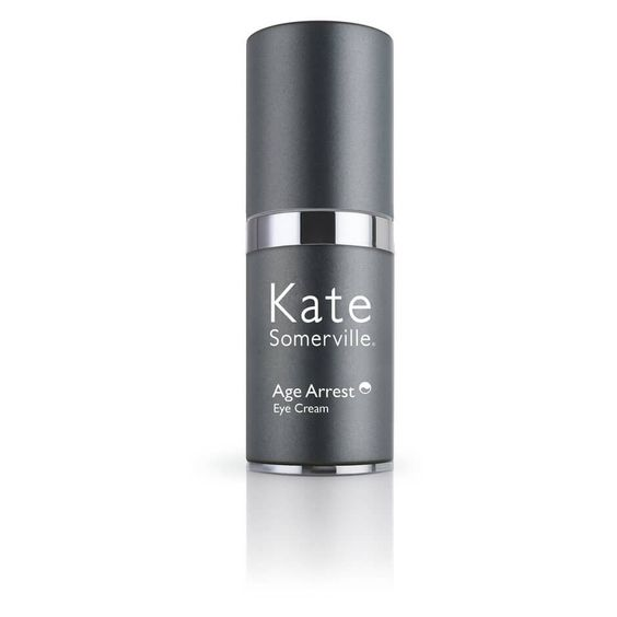 Age Arrest Eye Cream from Kate Somerville $112,00 Contains Telo 5 Technology which keeps telomeres longlasting. Reduces wrinkles, gives a youthful complexion to the eye area. Also contains Laminaria Kelp extract which reduces wrinkles, as well as Deep Ocean Red Algae to reduce dark circles of the eye area.