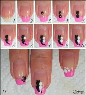 Nail Art, des ongles vraiment mignons ! 6  Tuto facile ! ♥