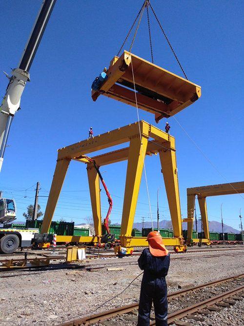 Gantry Crane Installation In Chile High Quality And Reliable Gantry Crane Gantry Crane Cranes For Sale Installation