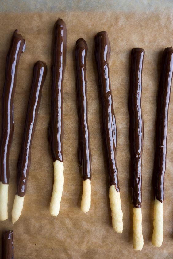 Home Made Pocky Sticks!!!!! My night has just been made. These are my ...