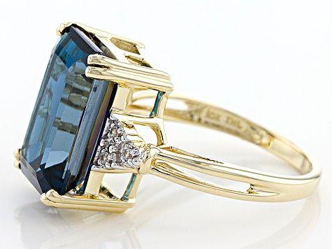 London Blue Topaz 10k Yellow Gold Ring 8 63ctw Deb013 In 2020 London Blue Topaz Engagement Rings London Blue Topaz Gold Rings