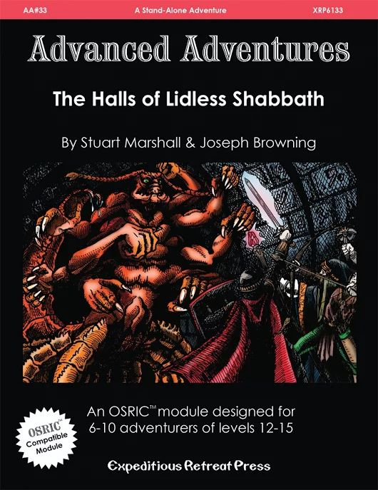 Advanced Adventures #33: The Halls of Lidless Shabbath:
