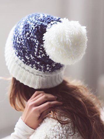 Jackson Pom Beanie | Super soft nubby beanie with a festive pompom at the top.  Ribbed cuff.   *By Free People