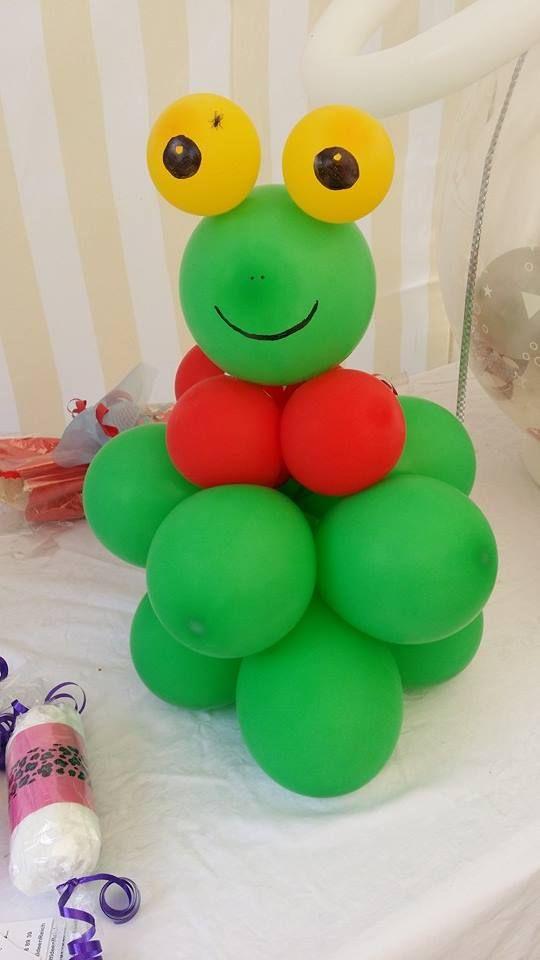 Luftballon-Frosch inkl. Fliege :-)