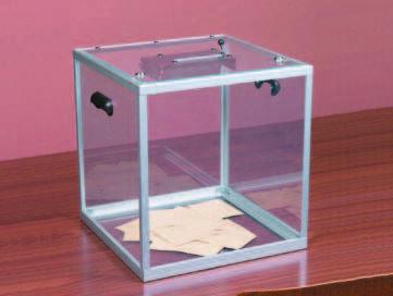 Urna Transparente con contador mecanico y cierre de seguridad de 450 mm. de altura (527110) | Urnas para elecciones | Equipamiento Electoral |