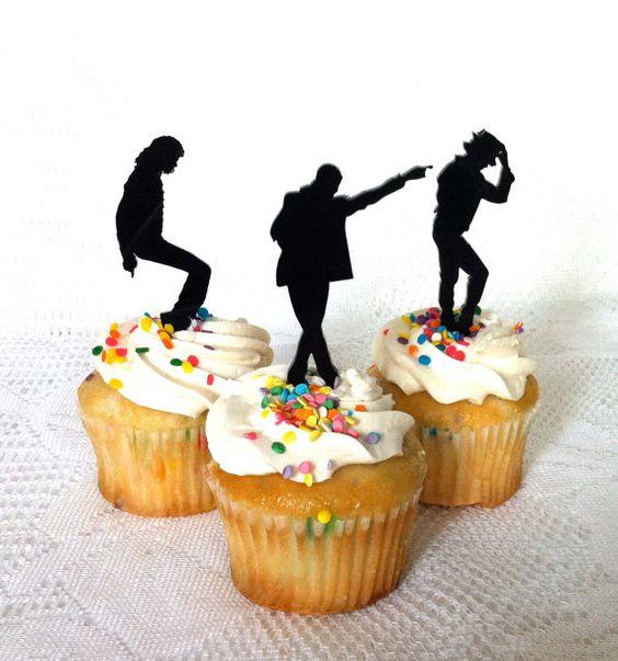 Michael Jackson Cupcake Toppers Set Of 3 Michael Jackson