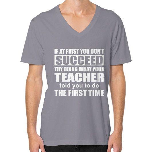 Science teacher succeed V-Neck (on man)