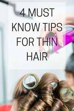 Must-know tips & tricks for thin hair #hair #beauty