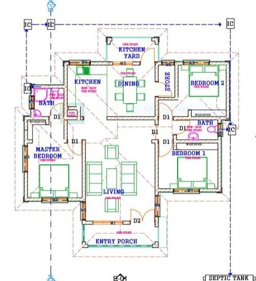 3 Bedroom Design 1230b Bungalow House Design Three Bedroom House Plan House Plan Gallery