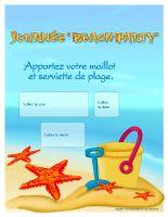 Calendrier perpétuel - Journée Beach party