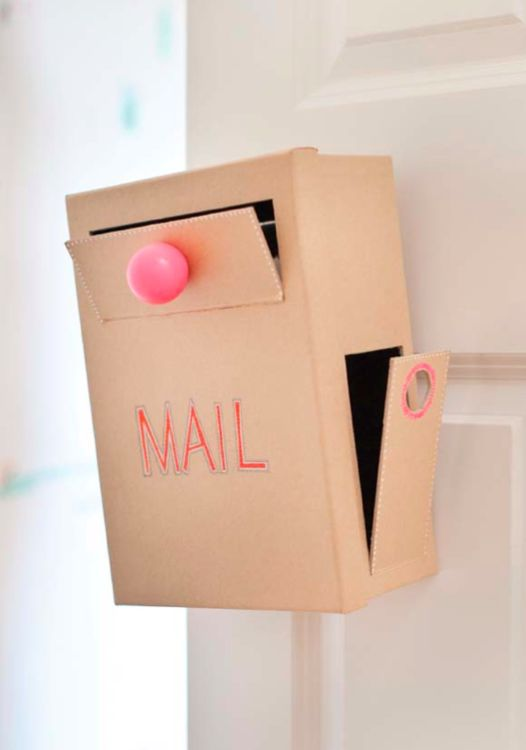 diy cardboard mail box kids pinterest creative mail