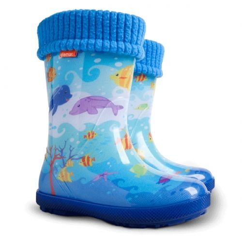 Ocieplane Kalosze Dla Dzieci Rybki Ocean Akwarium Demar Hawai Exclusive Eg 28 35 Boots Wellington Boot Boots Uk