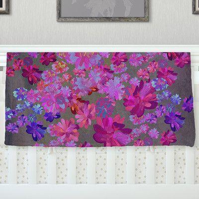 East Urban Home 'Purple Flowers' By Marianna Tankelevich Fleece Blanket Size: