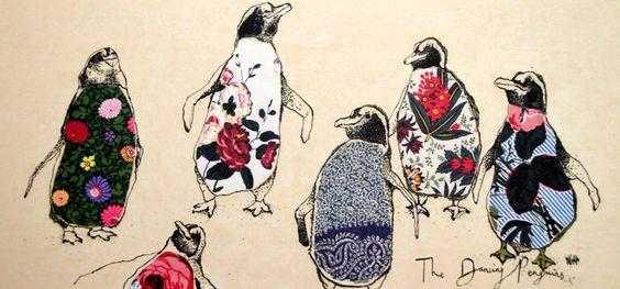 'Dancing Penguins' card £2.50