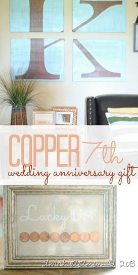 7th Wedding Gift Ideas : traditional gift ideas gifts wedding ideas pennies breaking up letters ...