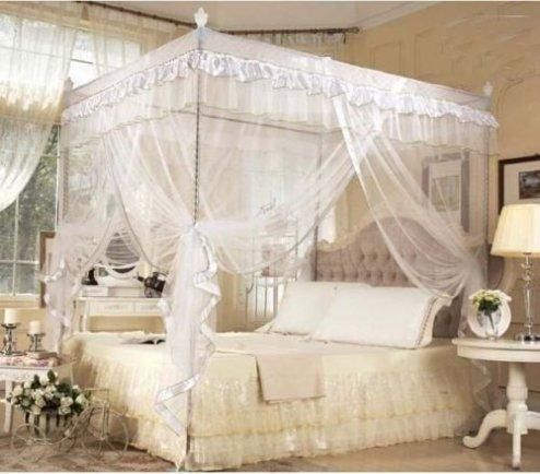Princess 4 Corners Bed Curtain Canopy Nets Mosquito Netting No//With Frame Post