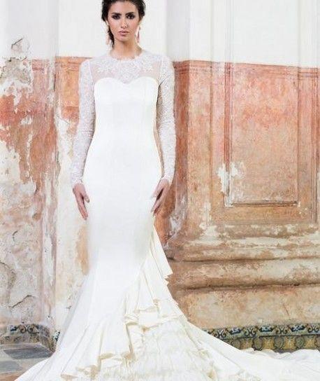 Vestido de boda flamenco de Vicky Martín Berrocal
