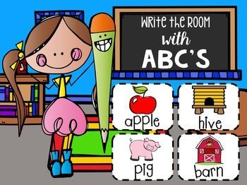 Write the Room ABC's  is a great activity that allows students to look closer at words. This activity is great for a work work, writing or alphabet center.