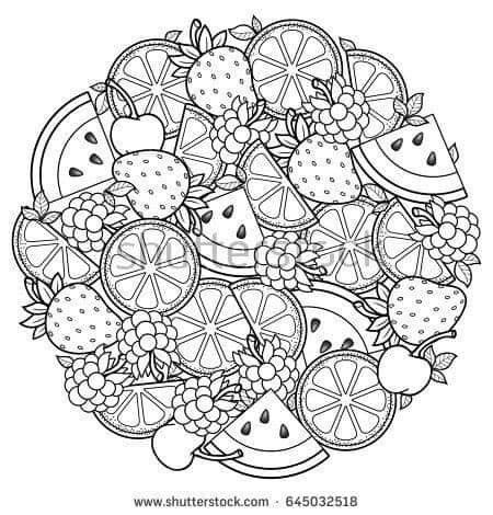 Pin By Loredana Plescia On Lavoretti Scuola Coloring Books Mandala Coloring Pages Fruit Coloring Pages