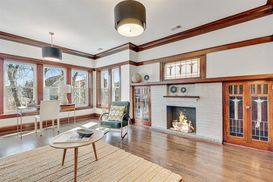 Charming Vintage Apartment For Rent In Logan Square Chicago Has Inspiring Woodwork Stained Gla Vintage Apartment Decor Vintage Apartment Apartments For Rent