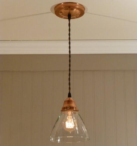 Brass blown glass light pendant google search kitchen for Brass kitchen light fixtures