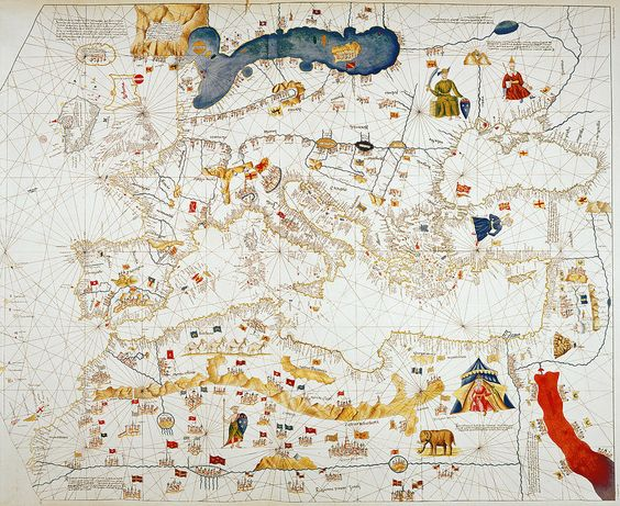 Copy Of Catalan Map Of Europe, North Africa And The Middle East  Drawing by Abraham Cresques