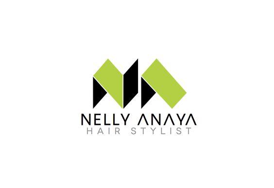 Nelly Anaya Hair Stylist Logo Design  www.dblmediastudio.com