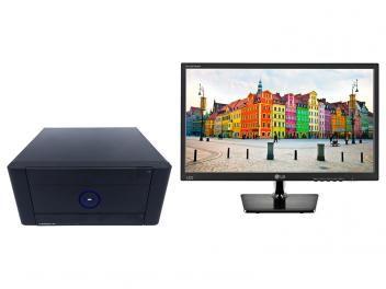 "Computador Braview Mini Twinsys AM00T - AMD Athlon 4GB 500GB Linux + Monitor LG LED 19,5"""